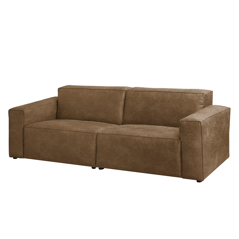 Sofa Manchester (3-Sitzer) - Antiklederlook - Camel