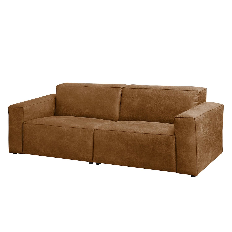 Sofa Manchester (3-Sitzer) Antiklederlook - Nougat