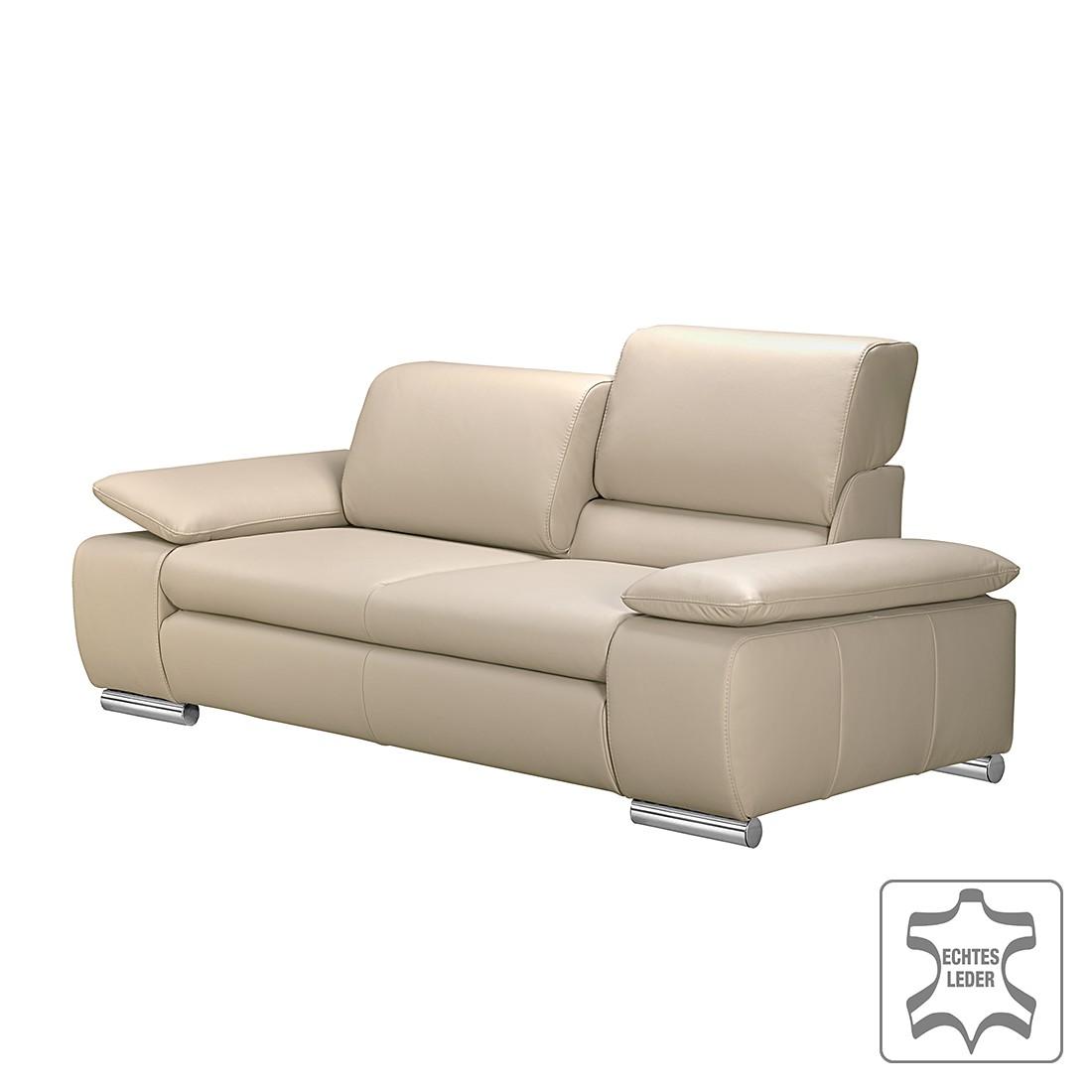 Canapé Masca (2 places) - Cuir véritable beige, Fredriks