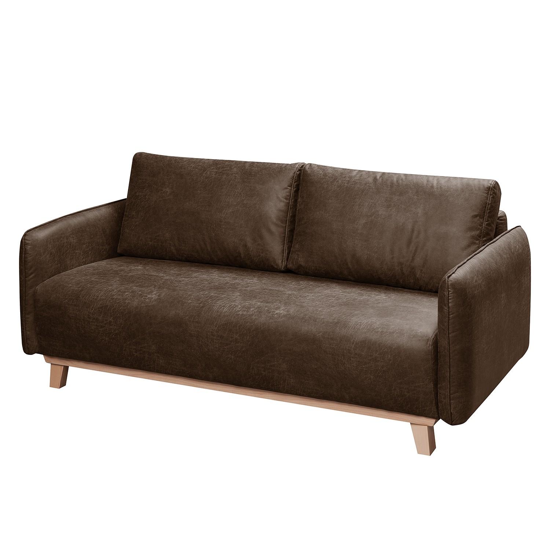 Sofa Mertyn (2,5-Sitzer) Antiklederlook - Braun
