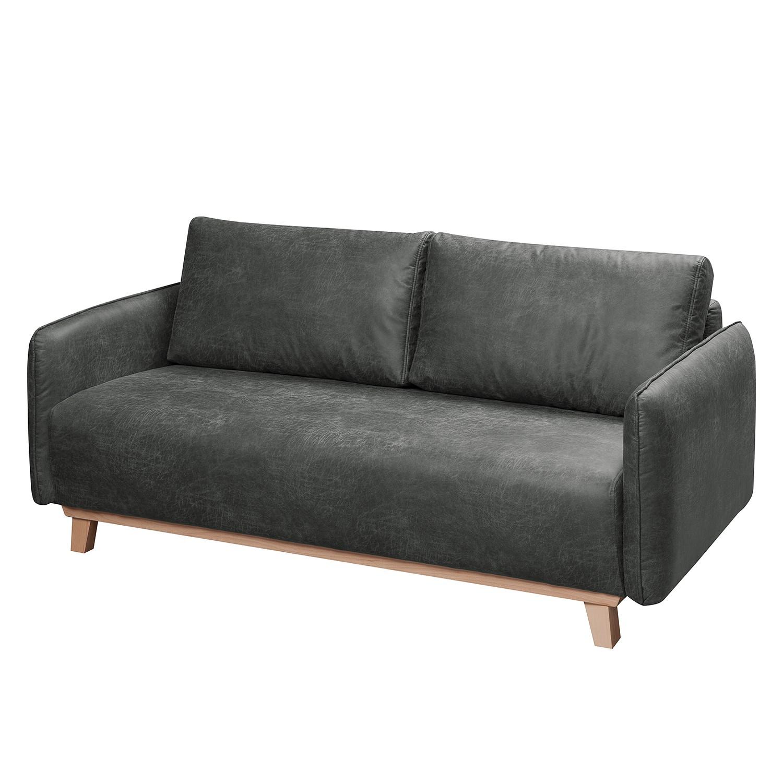 Sofa Mertyn (2,5-Sitzer) Antiklederlook - Dunkelgrau