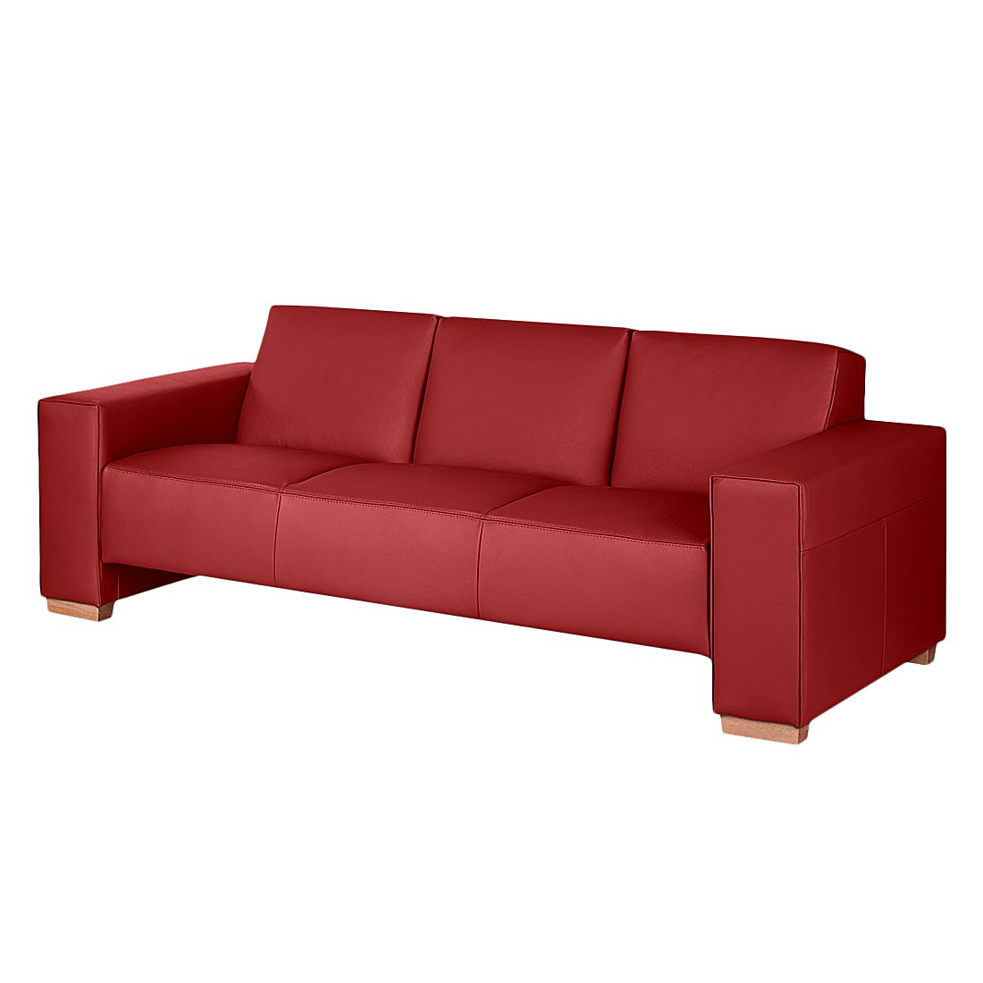 sofa midar 3 sitzer echtleder rot roomscape g nstig. Black Bedroom Furniture Sets. Home Design Ideas