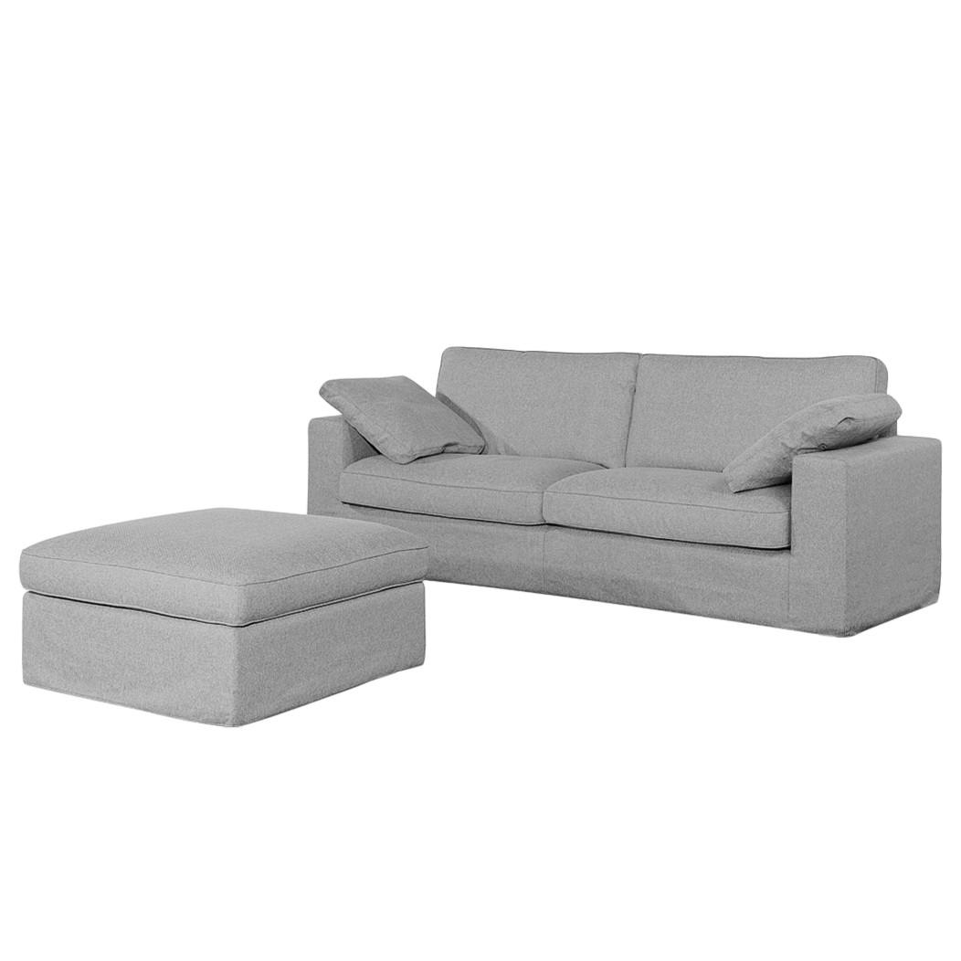 Sofa Moore (2,5-Sitzer) Webstoff - Stoff Valura Grau