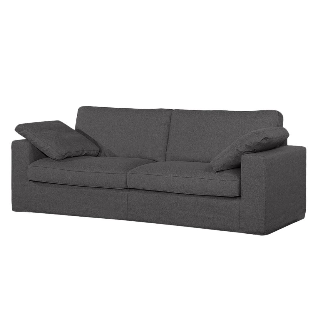 Sofa Moore (3-Sitzer) - Webstoff - Stoff Dara Grau