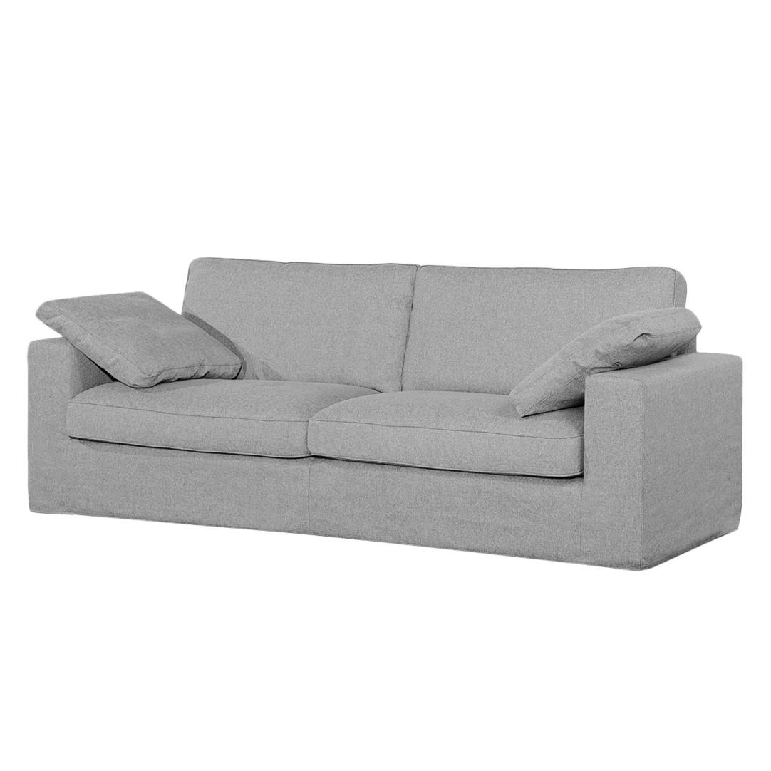 Sofa Moore (3-Sitzer) - Webstoff - Stoff Valura Grau