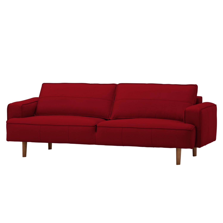 Sofa navona 3 sitzer echtleder walnuss echtleder for Echtleder sofa
