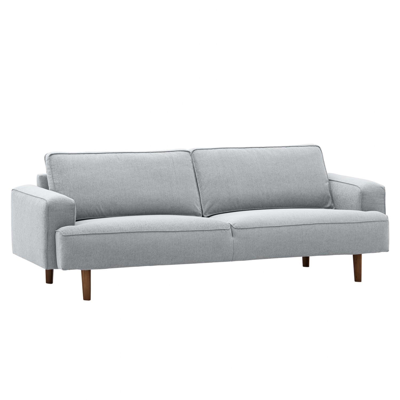 Sofa Navona (3-Sitzer) - Webstoff - Walnuss - Stoff Anda II Silber