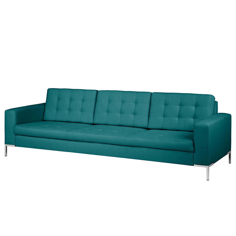 Canapé Nistra (3 places) - tissu bleu / vert, Fredriks
