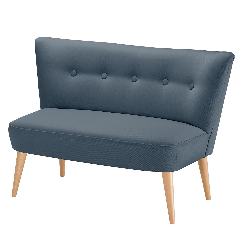 Canapé Panti (2 places) - Tissu - Bleu jean, Morteens