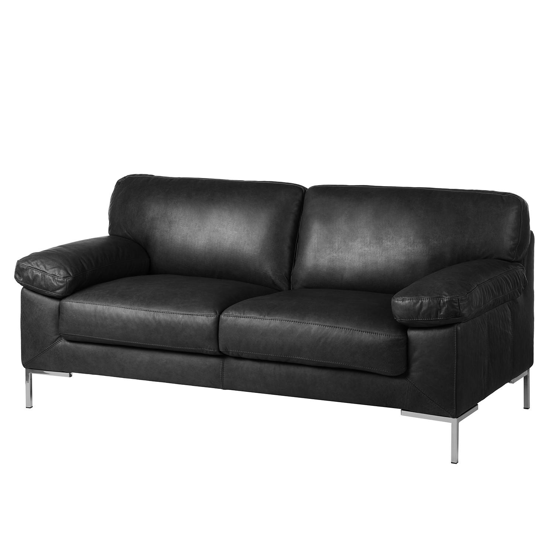 Canapé Essos (2,5 places) - Cuir véritable - Noir, ars manufacti