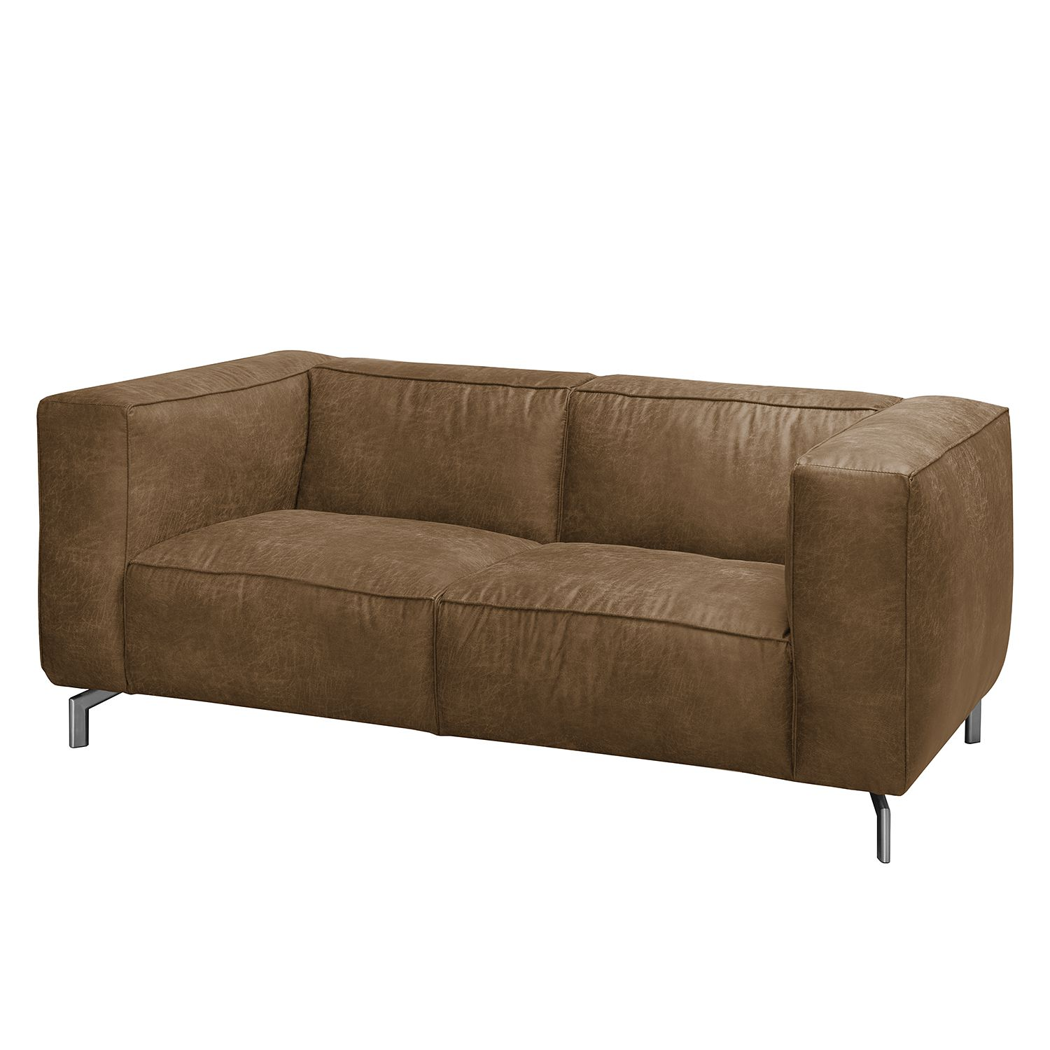 Sofa Pentre (2-Sitzer) Antiklederlook - Camel
