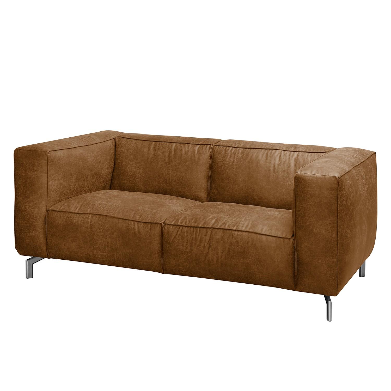 Sofa Pentre (2-Sitzer) Antiklederlook - Nougat