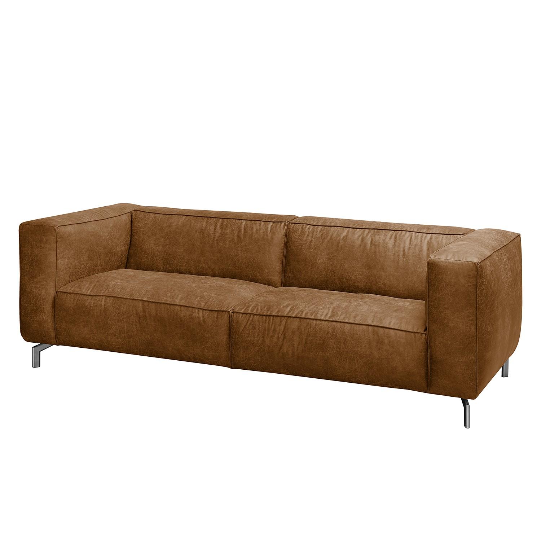 Sofa Pentre (3-Sitzer) Antiklederlook - Nougat