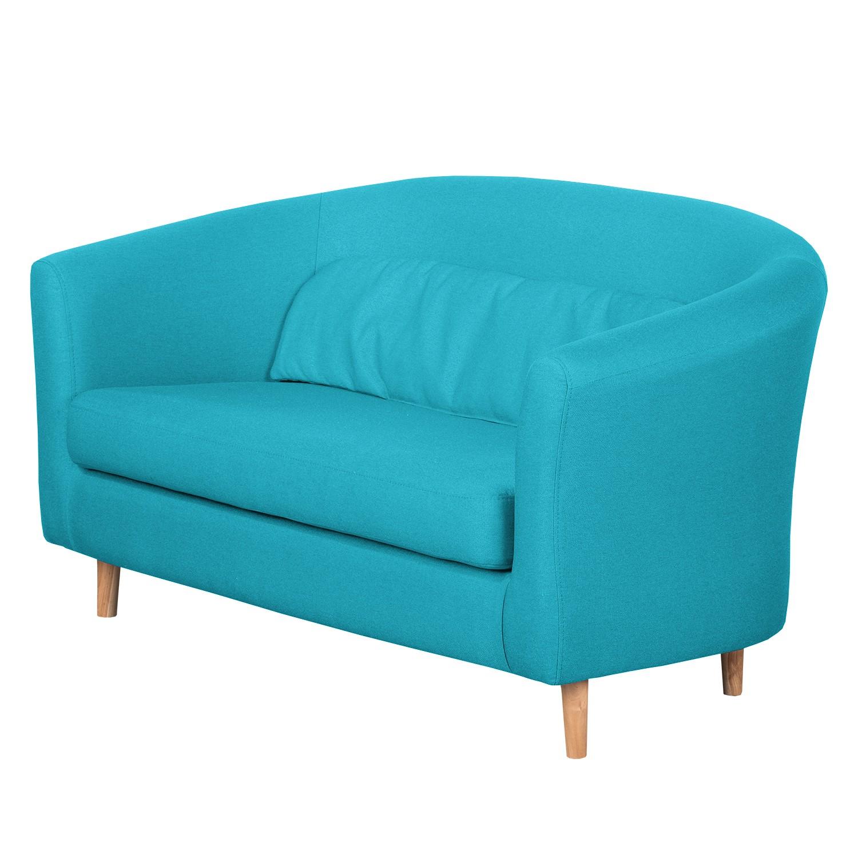 Canapé Philipp (2 places) - Textile - Turquoise, Morteens
