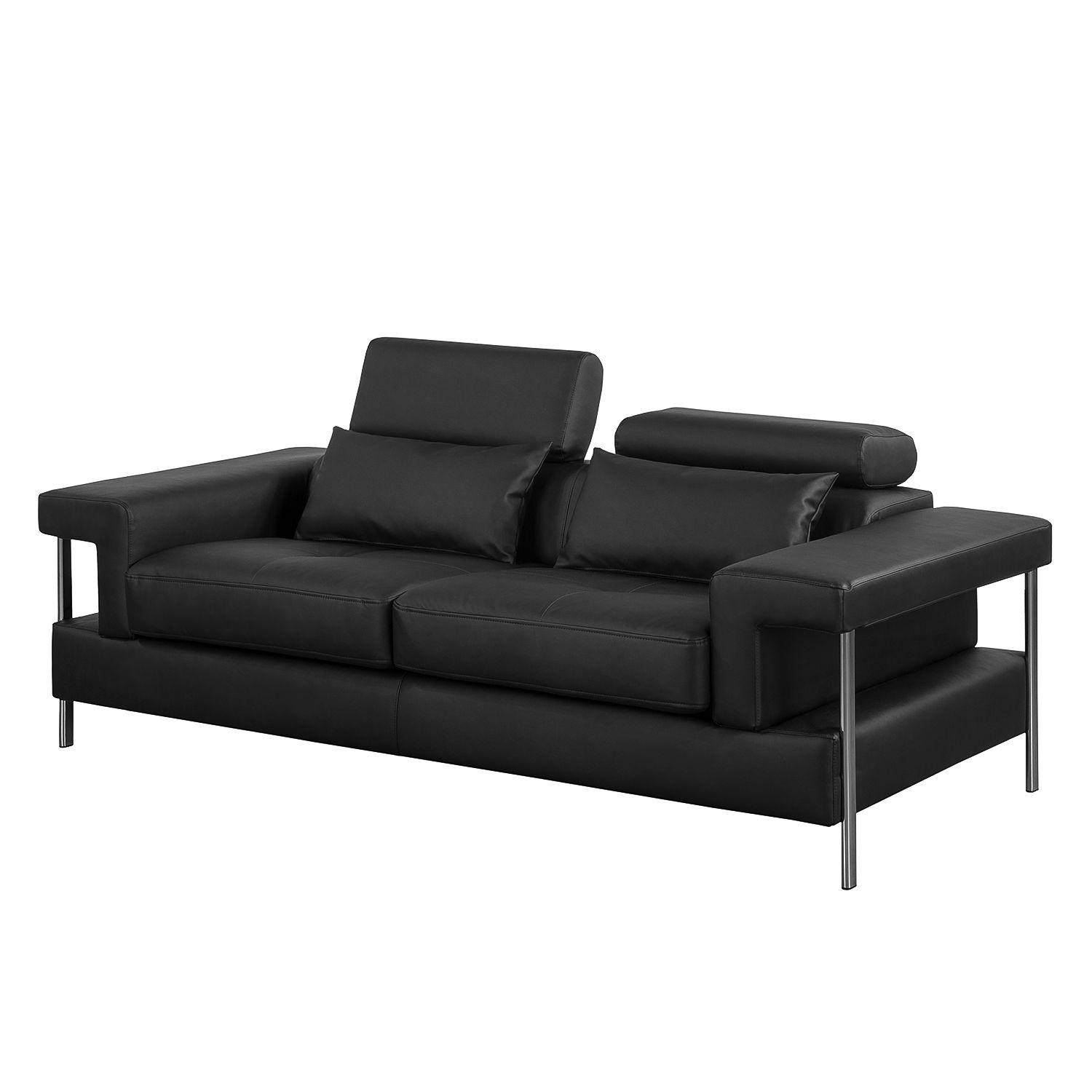 kunstleder sofa schwarz sofa kunstleder schwarz b rostuhl. Black Bedroom Furniture Sets. Home Design Ideas