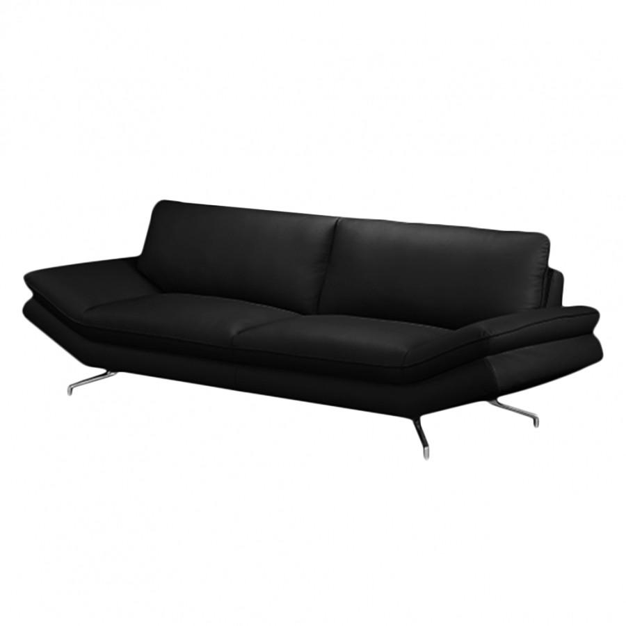 sofa sharon 2 5 sitzer echtleder schwarz ohne kopfst tze fredriks g nstig. Black Bedroom Furniture Sets. Home Design Ideas