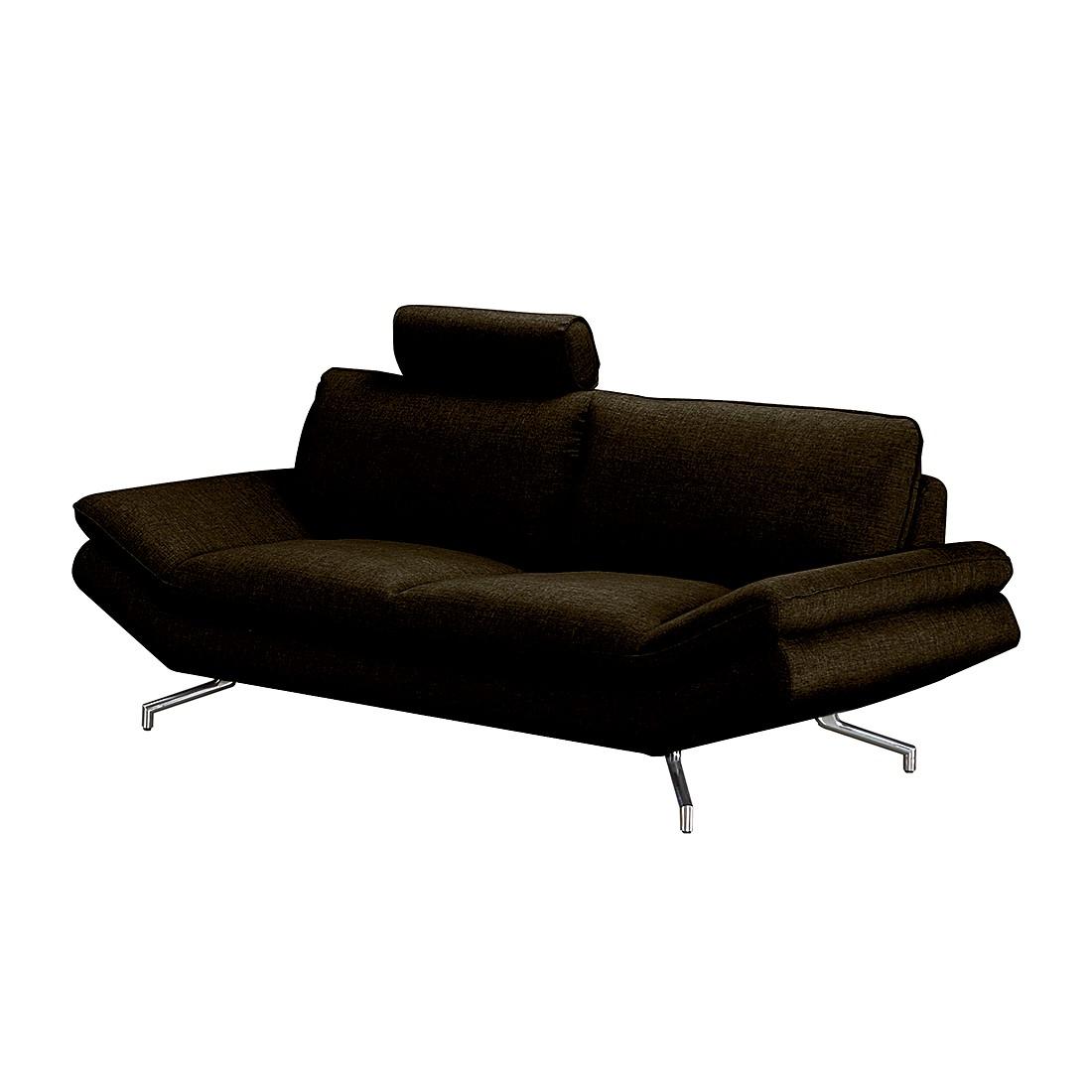 sofa sharon 3 sitzer webstoff mit kopfst tze dunkelbraun loftscape g nstig schnell. Black Bedroom Furniture Sets. Home Design Ideas