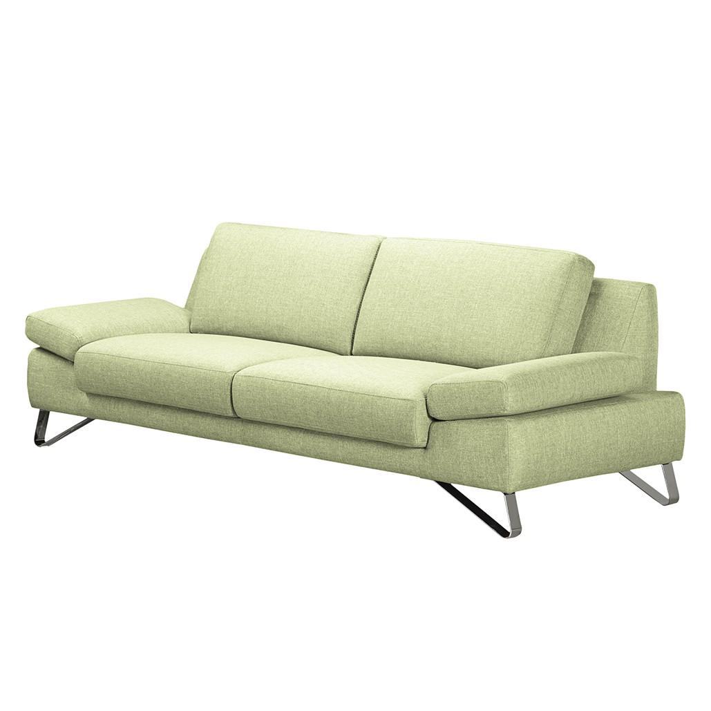 Sofa silvano 2 5 sitzer webstoff gr n ohne for Ecksofa sitztiefe 90