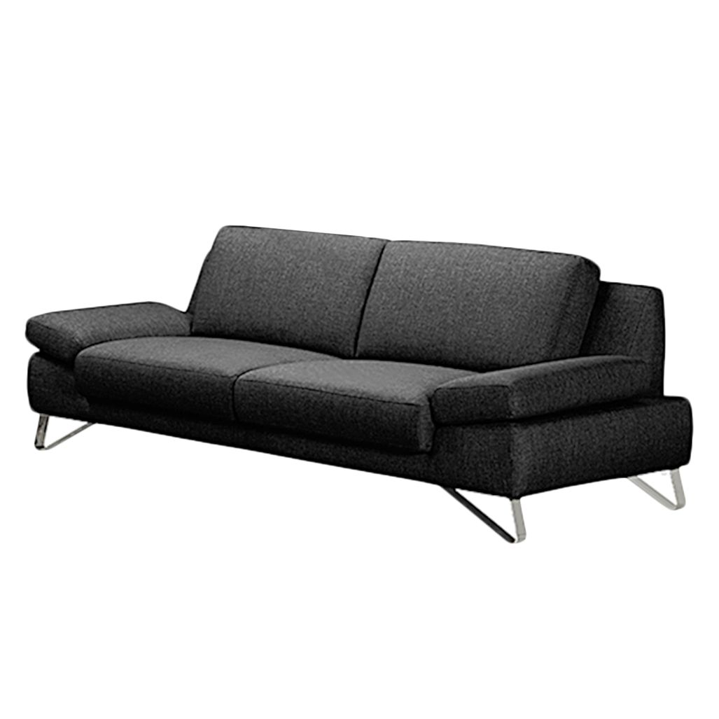 sofa silvano 3 sitzer webstoff schwarz ohne kopfst tze loftscape g nstig. Black Bedroom Furniture Sets. Home Design Ideas