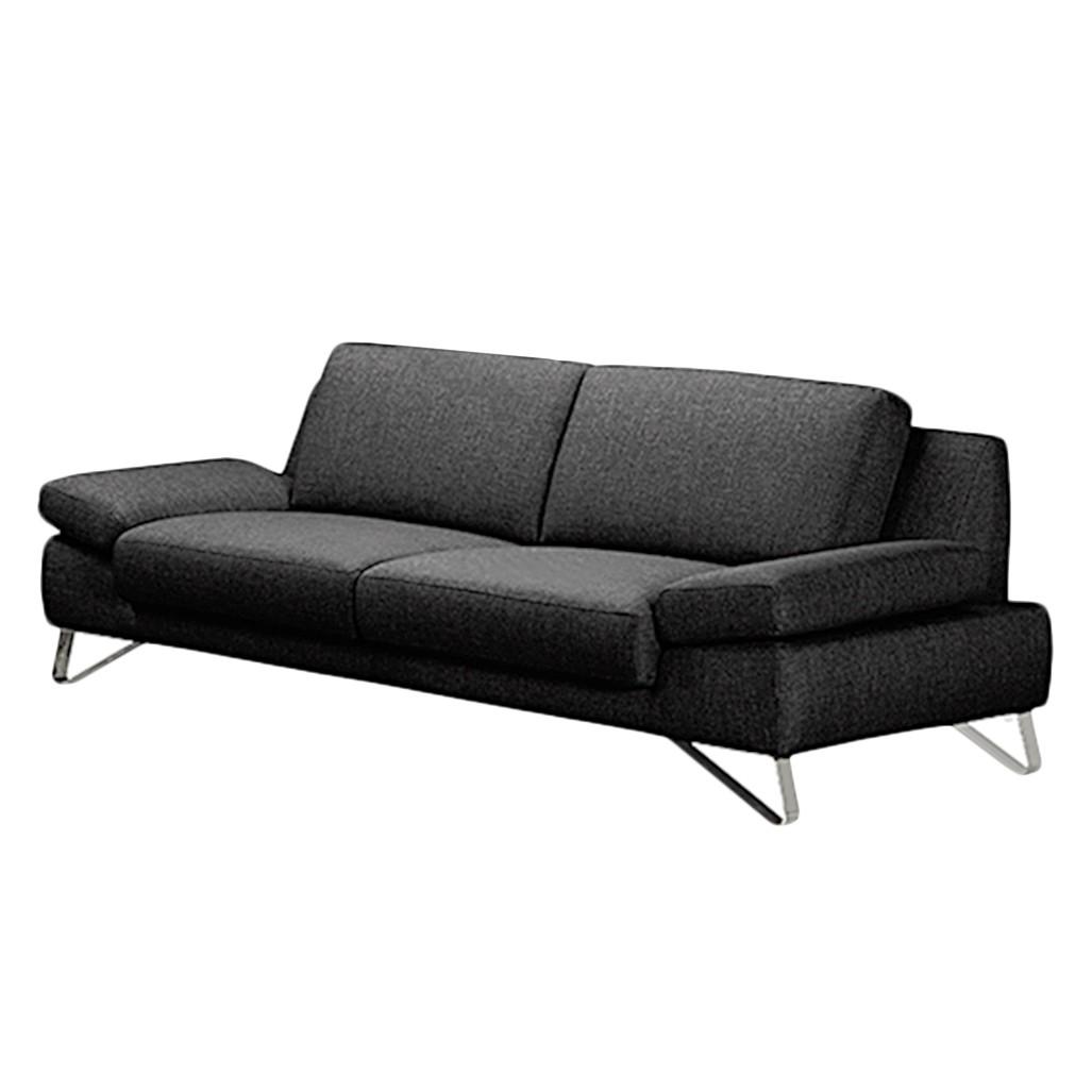 sofa silvano 3 sitzer webstoff schwarz ohne kopfst tze loftscape g nstig. Black Bedroom Furniture Sets. Home Design Ideas