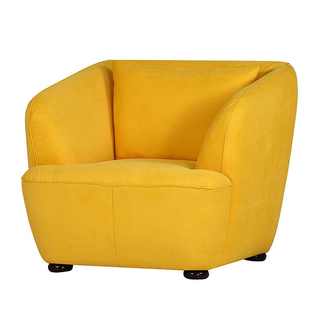 fauteuil sixties tissu jaune studio monroe par studio monroe chez home24 fr. Black Bedroom Furniture Sets. Home Design Ideas