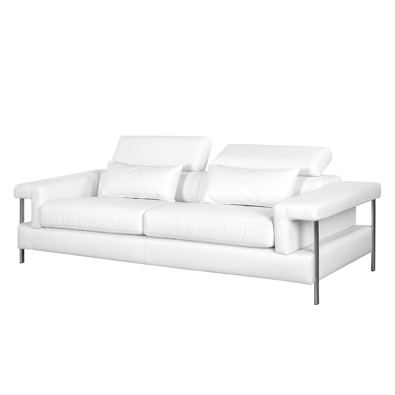 Canapé Skibsby (3 places) Imitation cuir - Blanc, roomscape