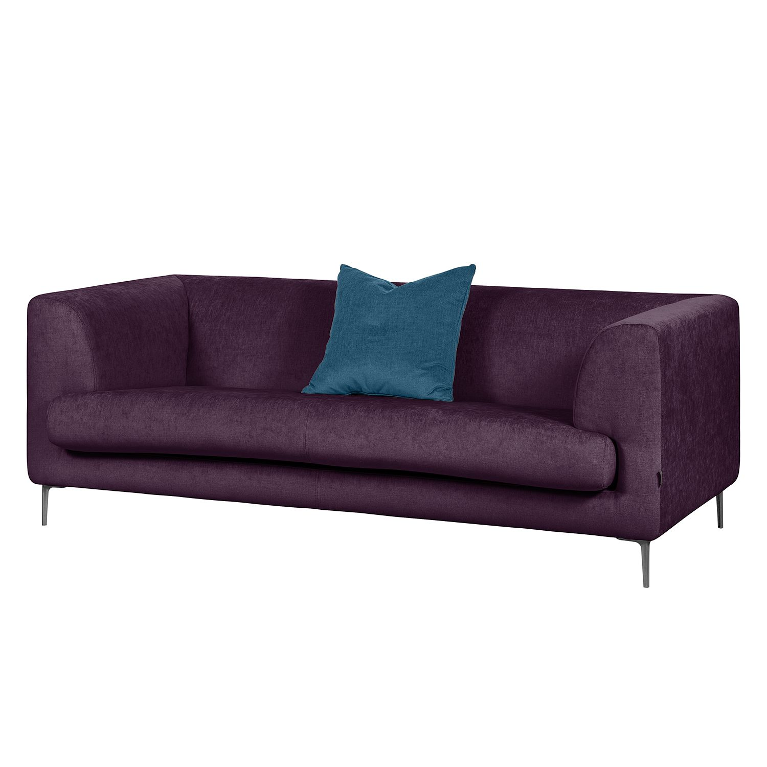 sofa sombret 2 5 sitzer webstoff aubergine g nstig. Black Bedroom Furniture Sets. Home Design Ideas