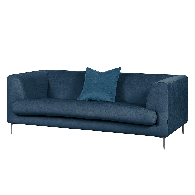 Sofa Sombret (2,5-Sitzer) Webstoff - Meerblau