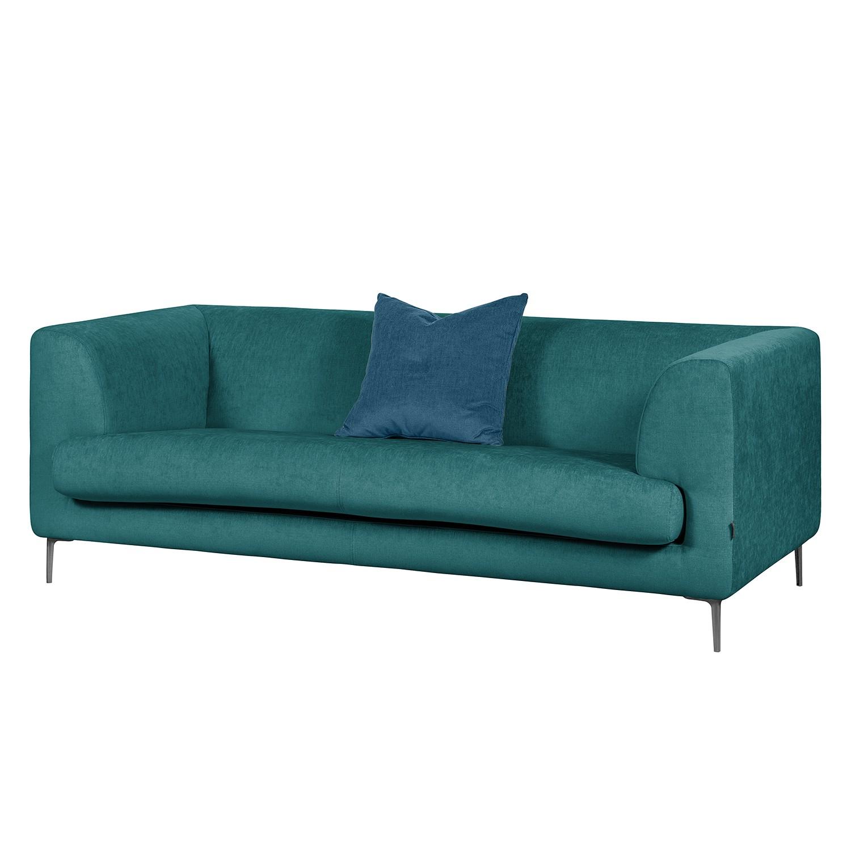 Sofa Sombret (2,5-Sitzer) Webstoff - Petrol
