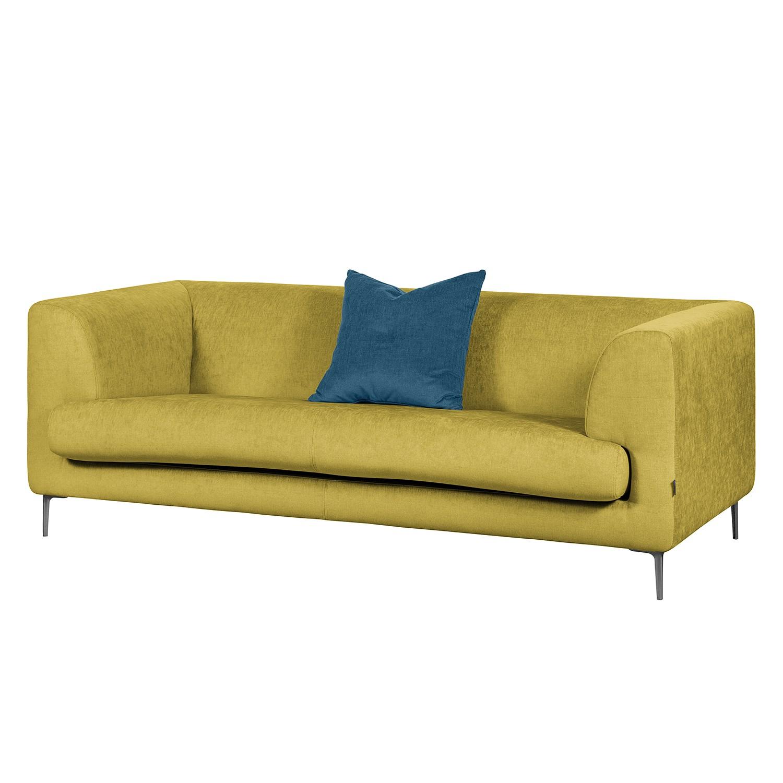 Sofa Sombret (2,5-Sitzer) Webstoff - Senfgelb