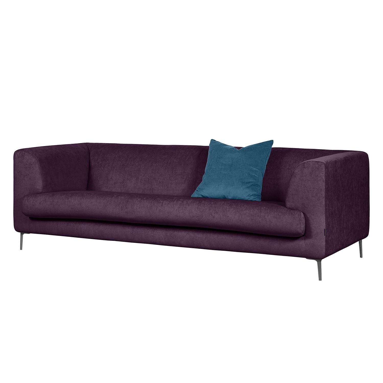 Sofa Sombret (3-Sitzer) Webstoff - Aubergine