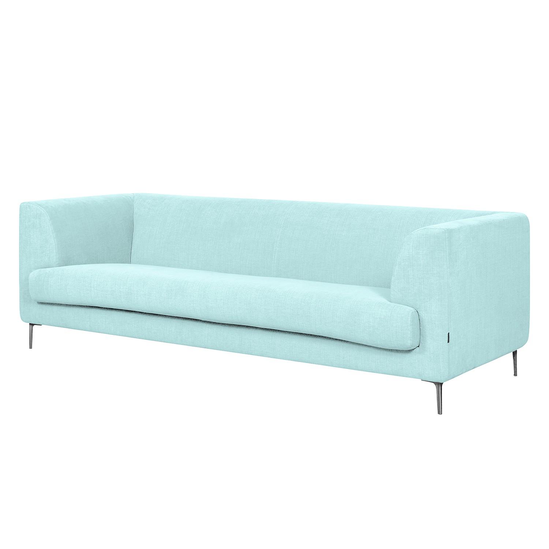 Sofa Sombret (3-Sitzer) Webstoff - Hellblau