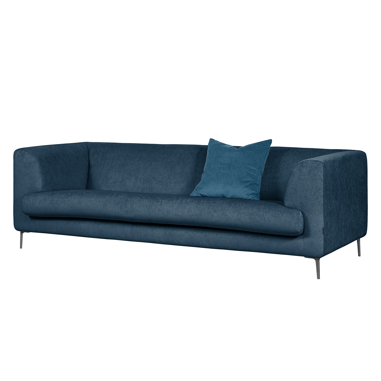 Sofa Sombret (3-Sitzer) Webstoff - Meerblau
