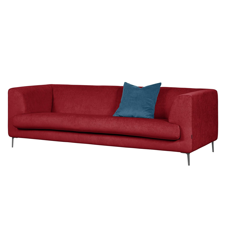 Sofa Sombret (3-Sitzer) - Webstoff - Weinrot