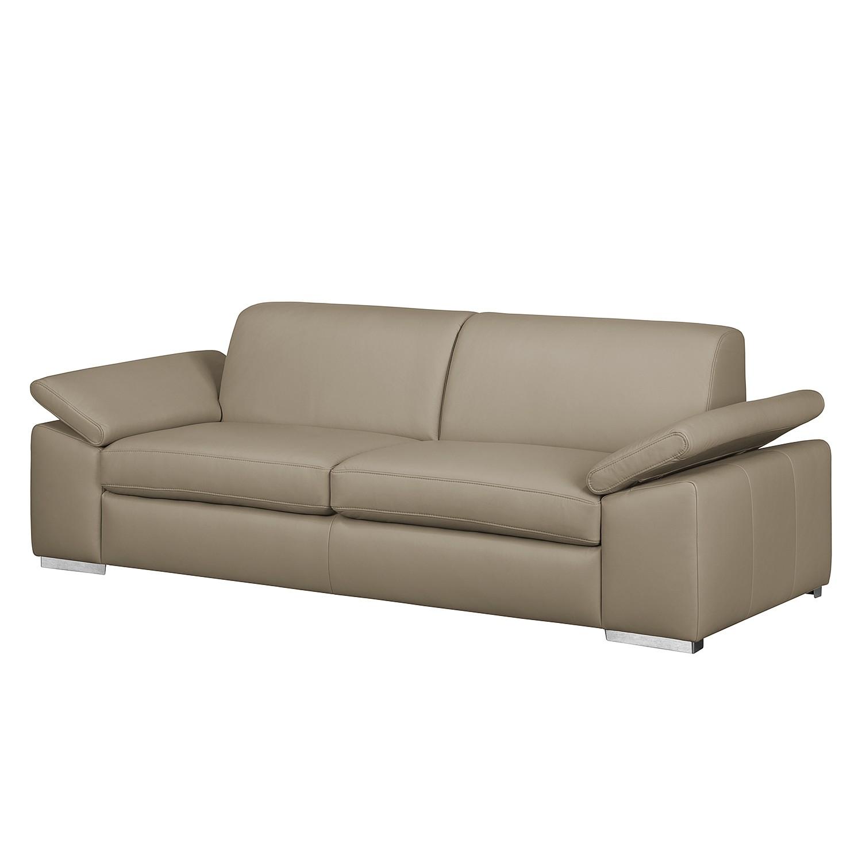 Sofa Termon III (3-Sitzer) - Echtleder - Taupe, Nuovoform günstig ...