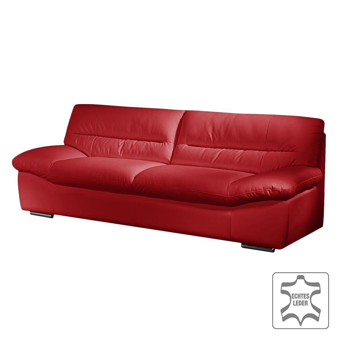 sofa doug 3 sitzer echtleder rot cotta g nstig bestellen. Black Bedroom Furniture Sets. Home Design Ideas