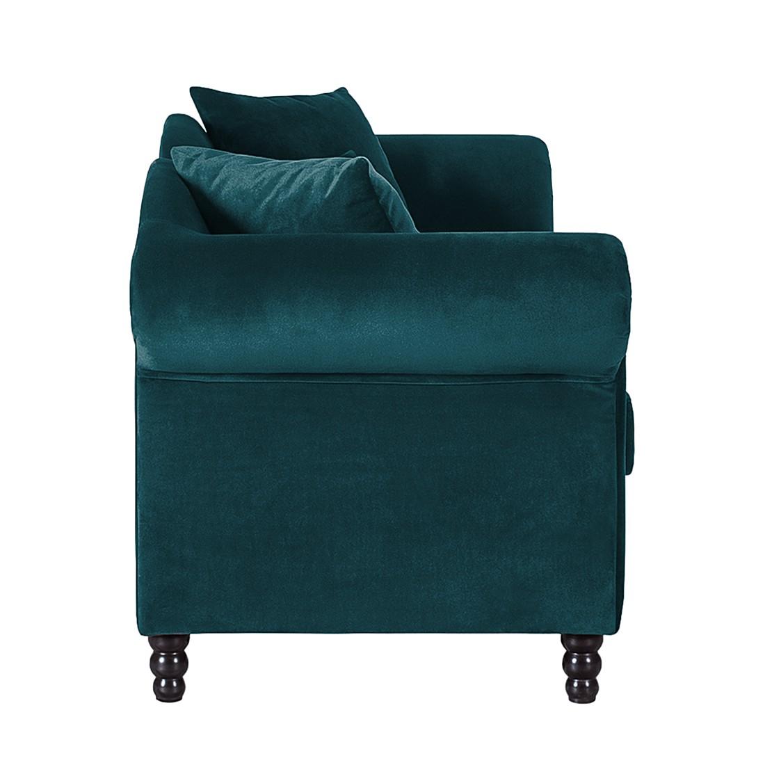 sofa york 3 sitzer samtstoff petrol jack and alice g nstig schnell einkaufen. Black Bedroom Furniture Sets. Home Design Ideas