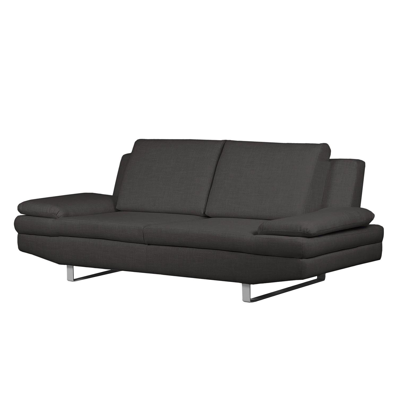 Sofa Yovanna (3-Sitzer) Webstoff - Anthrazit, Fredriks bei Home24 - Möbel