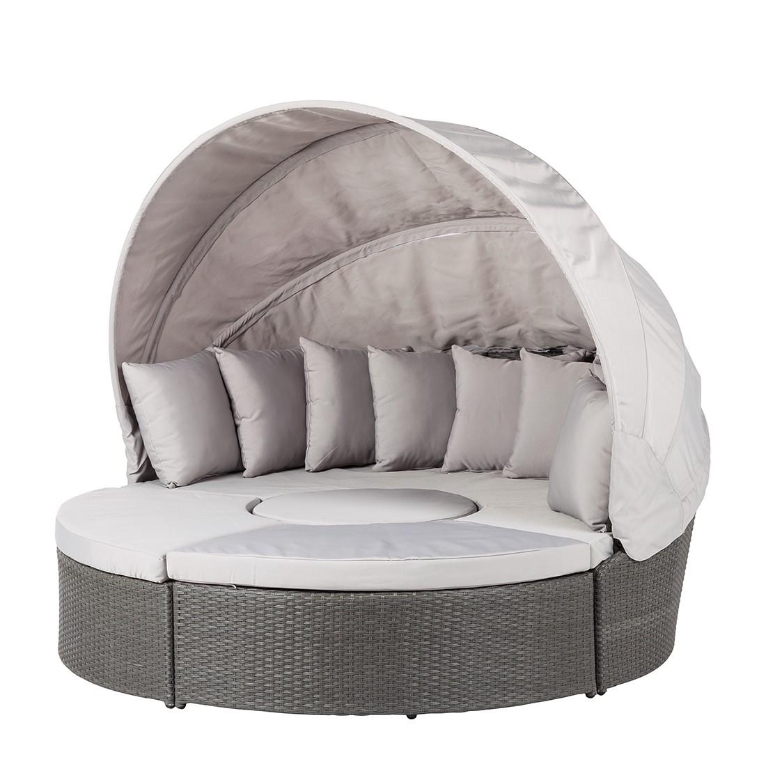 Salon de jardin modulable Premium Paradise Lounge - Polyrotin - Cadre en aluminium - Gris / Gris cla