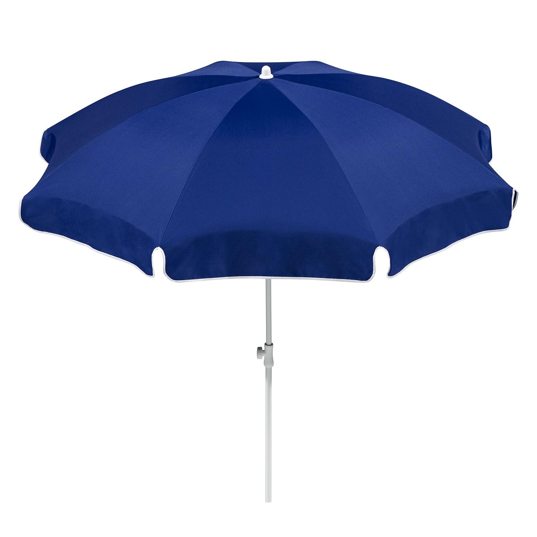 Parasol Ibiza - staal/polyester wit/blauw staal/wit polyester/blauw diameter: 240cm, Schneider Schirme
