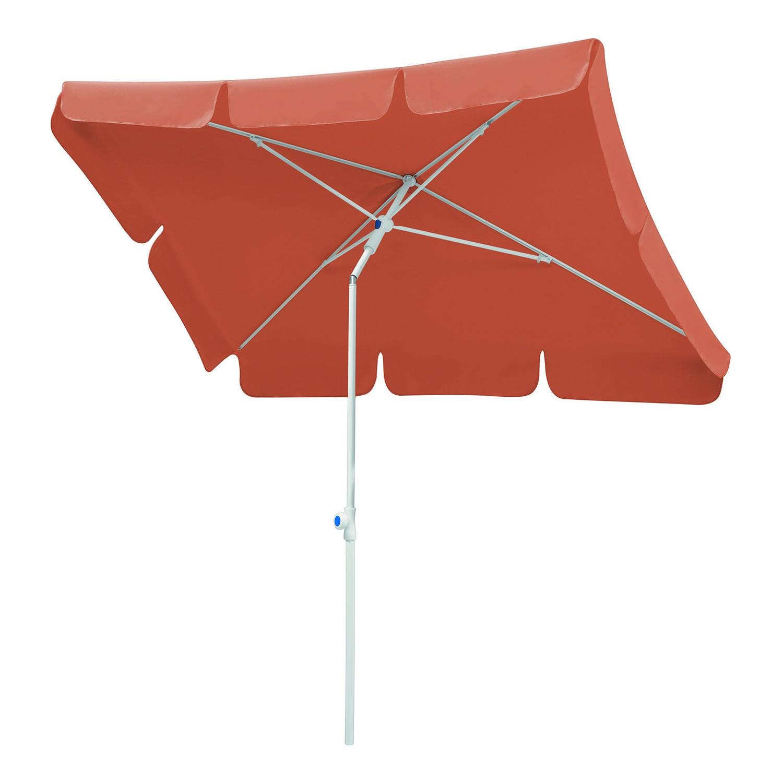 Sonnenschirm Ibiza - Stahl/Polyester - Weiß/Terracotta - 180 x 120 cm, Schneider Schirme