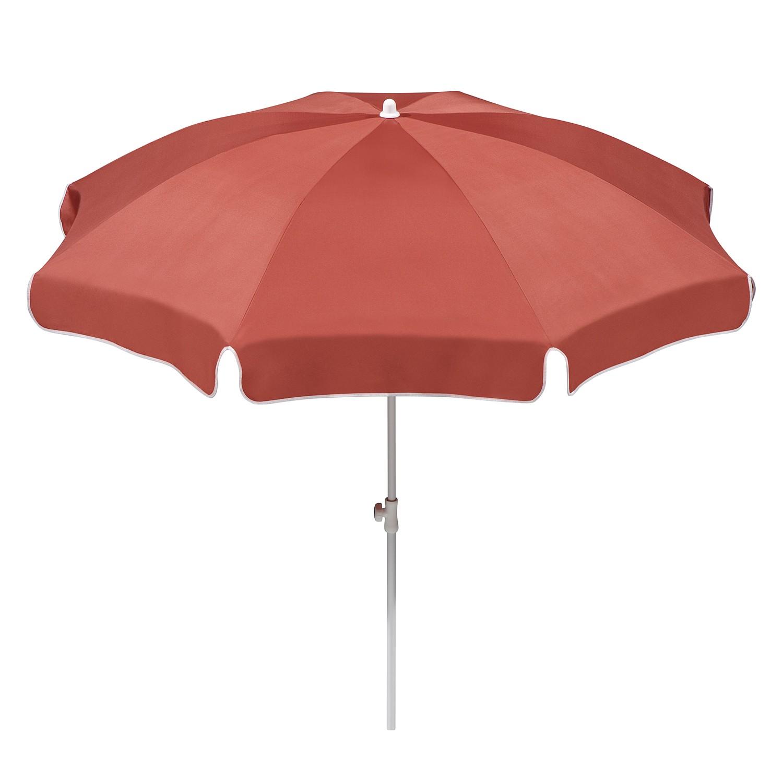 Sonnenschirm Ibiza - Stahl/Polyester - Weiß/Terracotta - Durchmesser: 200 cm, Schneider Schirme