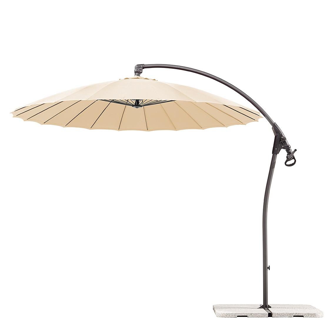 Sonnenschirm Lotus 270 - Stahl/Polyester - Anthrazit/Natur, Schneider Schirme