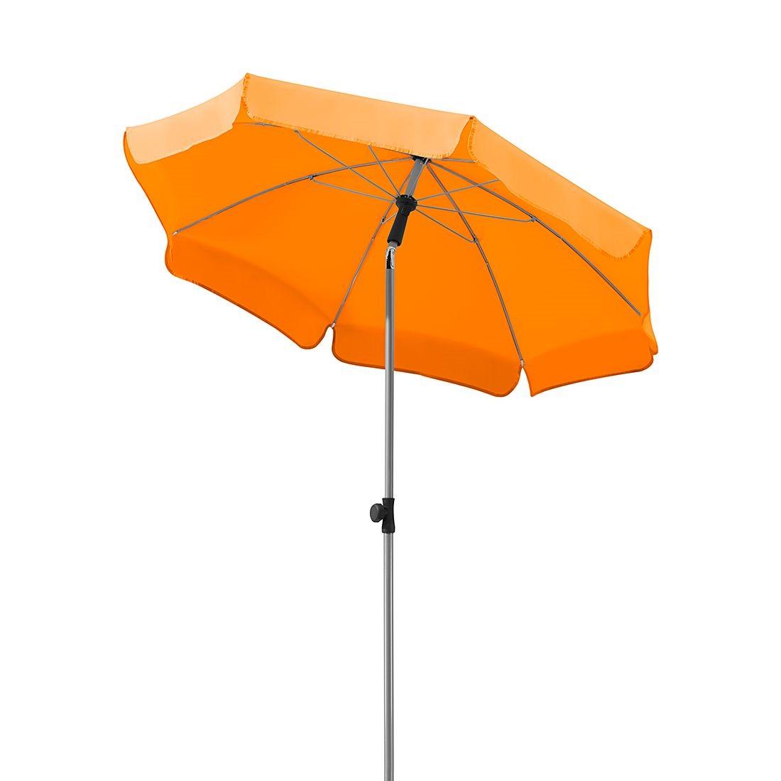 Home 24 - Parasol micco i - acier / polyester - argenté / mandarine, schneider schirme