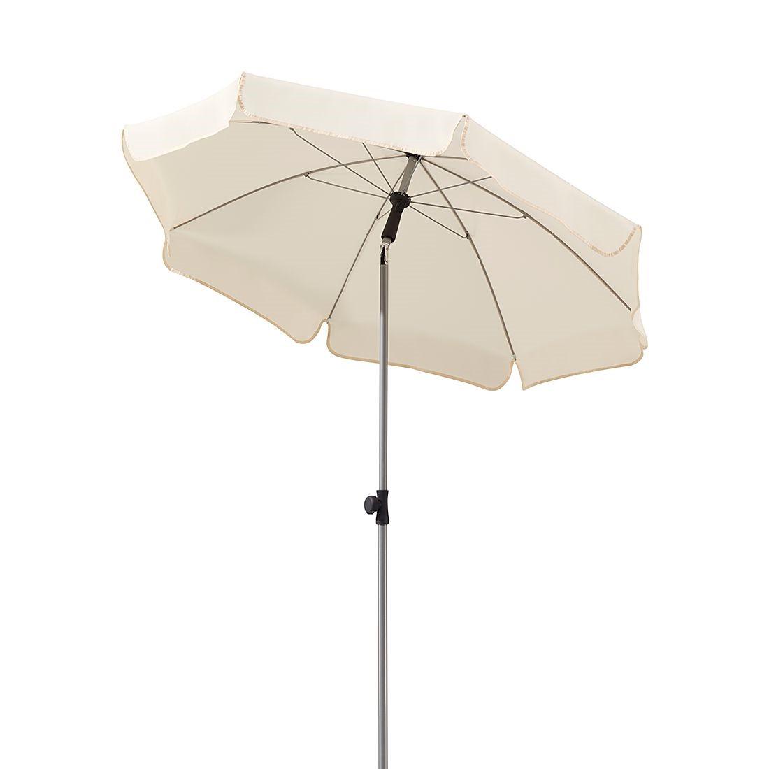 Sonnenschirm Micco I - Stahl/Polyester - Silber/Natur, Schneider Schirme