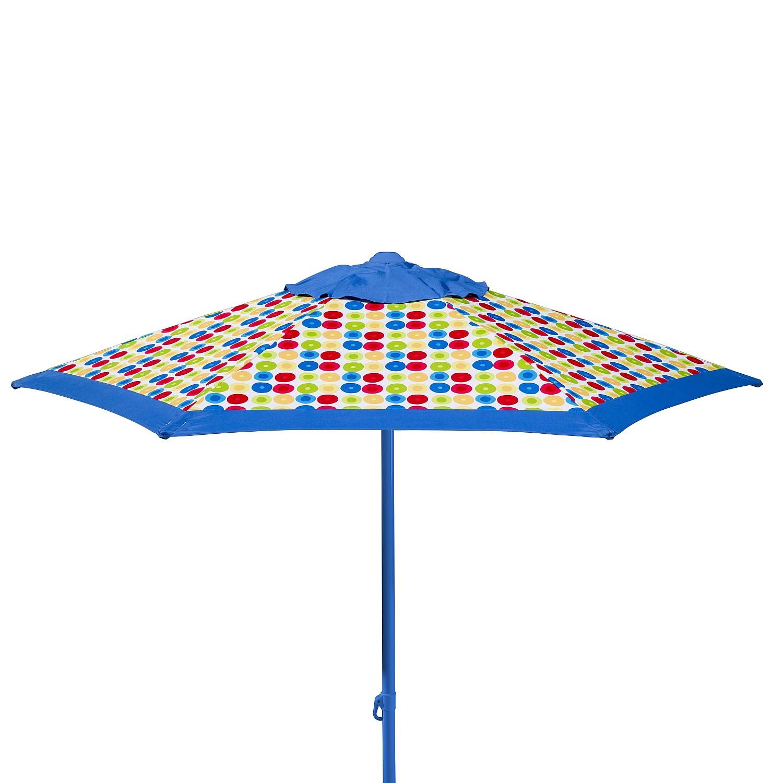 Sonnenschirm Puntito - Webstoff - Blau, Schneider Schirme