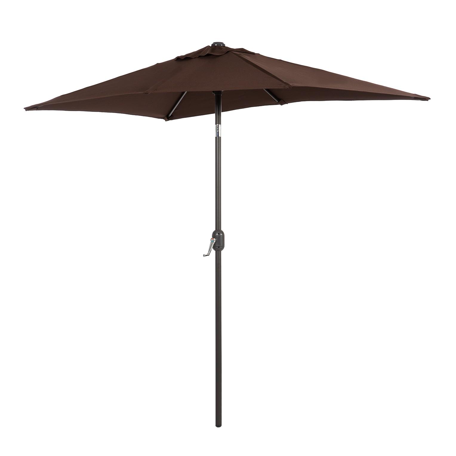 Parasol Solari - cappuccinokleurig - 120x225cm, mooved