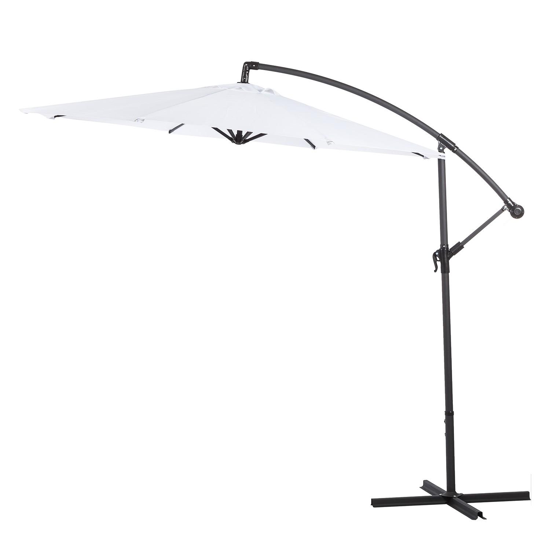 Sonnenschirm Sombrilla (inkl. Kreuzständer) - Weiß, mooved