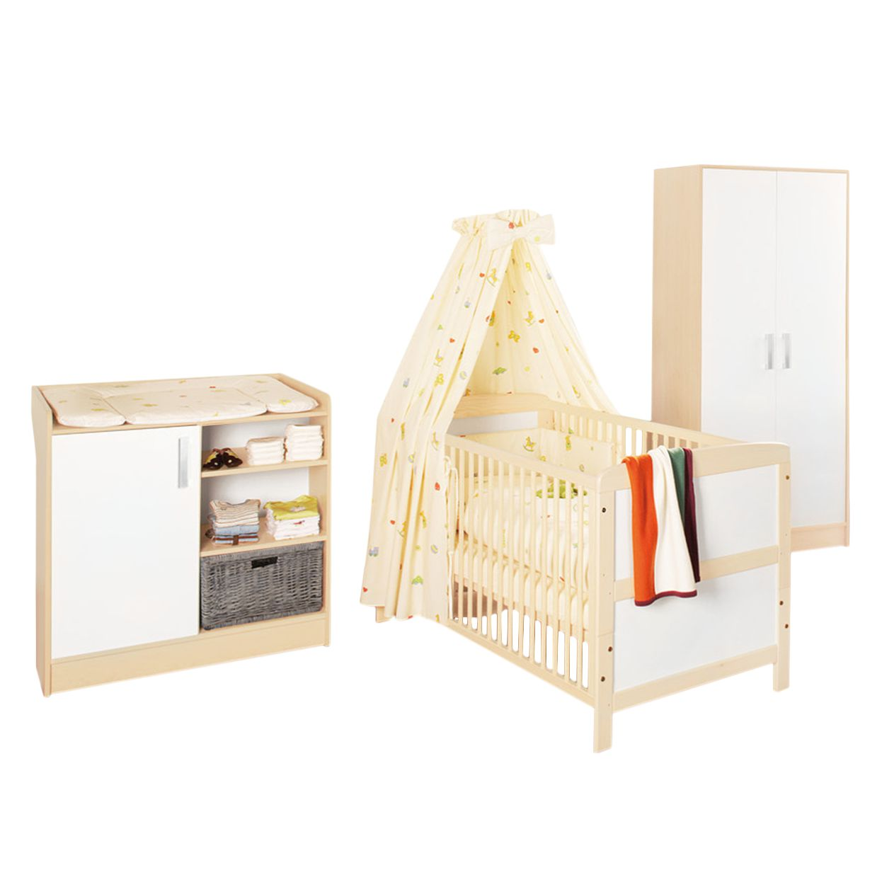 Set de chambre pour bébé Florian - Armoire 2 portes, Pinolino
