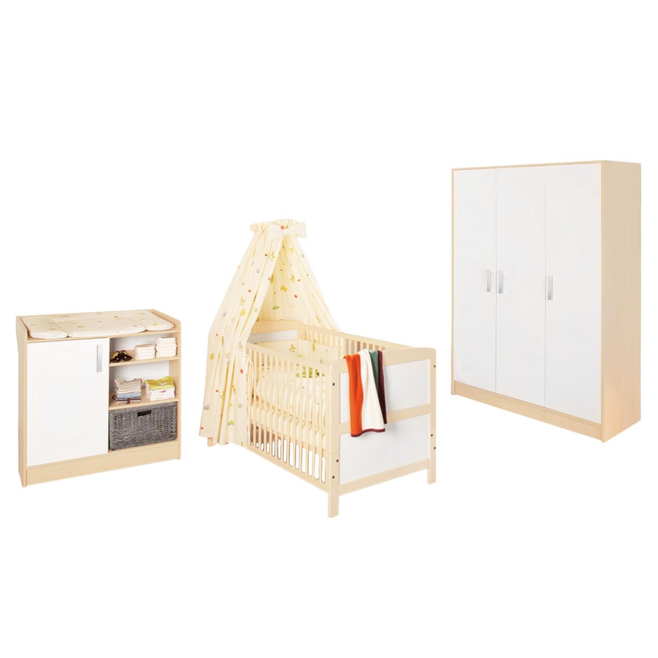 Set économique Florian (3 éléments) - Avec armoire à vêtements 3 portes, Pinolino
